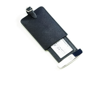 Go Travel Deluxe Leather Luggage Tag