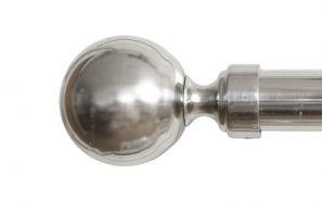 28mm Vista Brushed Steel Rod Set 200cm