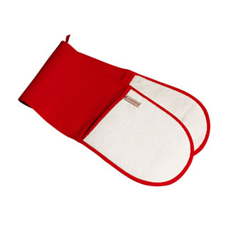 Le Creuset Double Oven Glove - Red