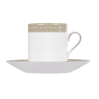 Vera Wang Lace Gold Coffee Cup