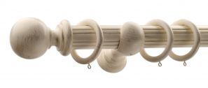 50mm Monarch Countess Cream Gold Complete Curtain Pole Set 160CM
