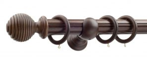 50mm Monarch Earl Antique Walnut Complete Curtain Pole Set 300CM