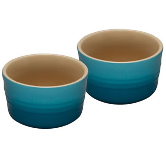Le Creuset Set of Two Ramekins - Teal
