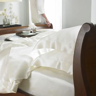 Gingerlily 100% Silk Ivory Flat Sheet  - King/SuperKing 290 x 275CM