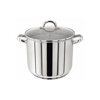 Judge Stainless Steel Stockpot with Glass Lid - 26CM (10.5L)