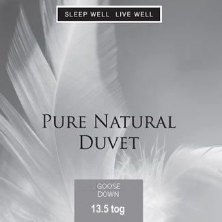 Sleep Well Live Well 13.5 Tog Goose Down Duvet  - Superking 260 x 220cm