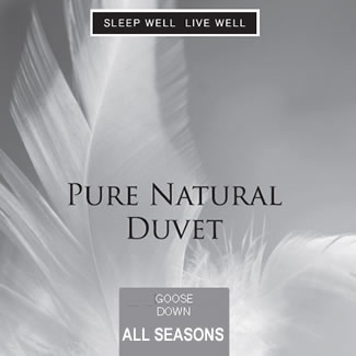 Sleep Well Live Well All Seasons Goose Down Duvet - Superking 260 x 220cm
