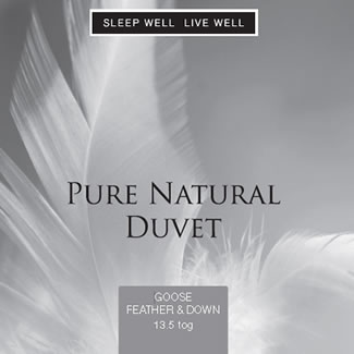 Sleep Well Live Well 13.5 Tog Goose Feather & Down - Double 200 x 200cm