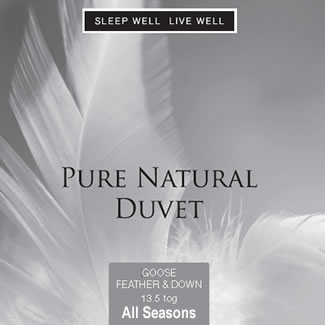 Sleep Well Live Well All Seasons Goose Feather & Down Duvet - Single 135 x 200cm