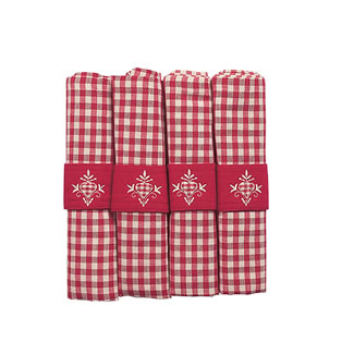 Walton & Co. Auberge Red Napkin Set of 4