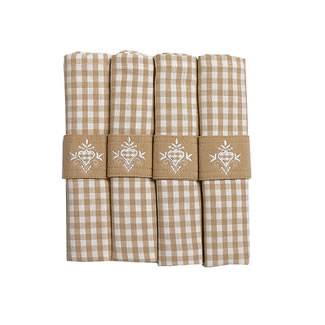 Walton & Co. Auberge Biscuit Napkin Set of 4