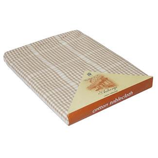 Walton & Co. Auberge Biscuit Table Cloth 100% Cotton - Tablecloth 130x130cm