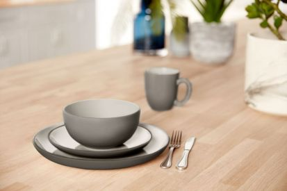 Amalfi 12 Piece Dinner Set Grey
