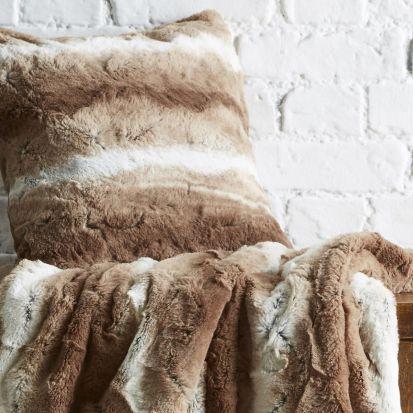 Behrens Faux Fur Cushion Cover Natural 45x45cm