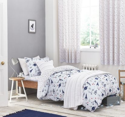 Bianca Cotton Soft Space Duvet Cover Set Single
