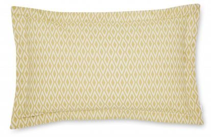 Bianca Cottonsoft Ziggurat Grey Oxford Pillowcase