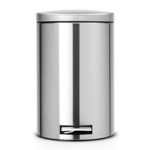 Brabantia 12 Litre Pedal Bin Silent- Matt Steel Fingerprint Proof
