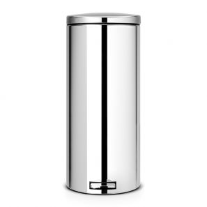 Brabantia 30 Litre Pedal Bin Silent - Brilliant Steel