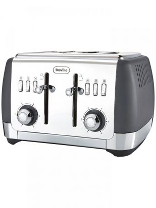 Breville Strata Luminere 4 Slice Toaster - Matt Grey