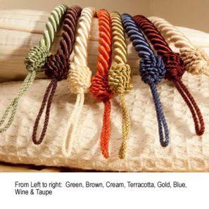 Cameo Rope Terracotta Tieback