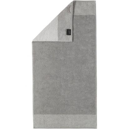 Cawo Two-Tone Platinum Hand Towel