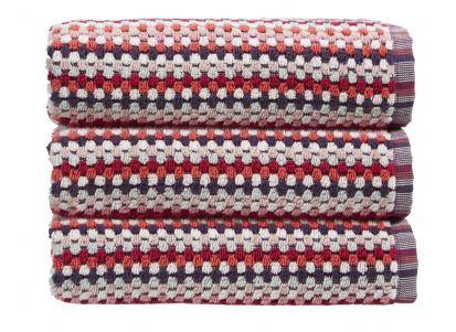 Christy Carnaby Stripe Bath Towel - Berry