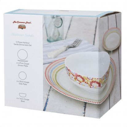 Churchill Harbour Sands Pacific 12-Piece Dinner Set