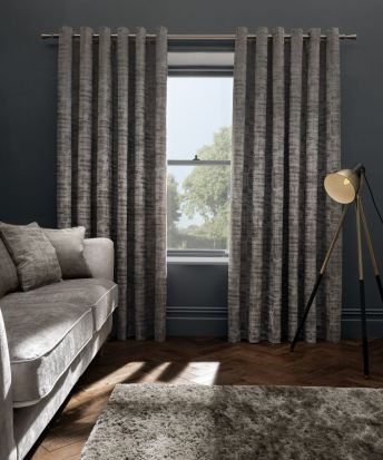 Clarke & Clarke Naples Taupe Curtains - 90