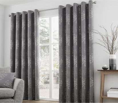 Curtina Elmwood Readymade Eyelet Curtains 66