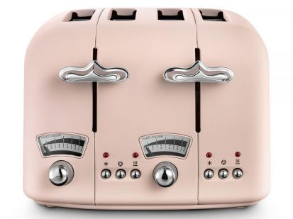 Delonghi Argento Flora 4-Slice Toaster - Pink