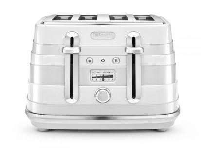 Delonghi Avvolta 4 Slice Toaster White
