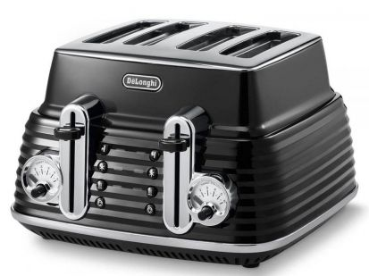 Delonghi Scultura 4 Slice Toaster - Black