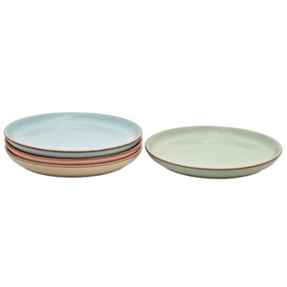 Denby Always Entertaining Deli 4 Piece Coupe Dinner Plate Set