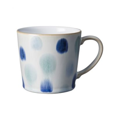 Denby Blue Spot Painted Large Handcrafted Mug