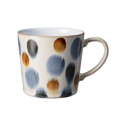 Denby Brown Spot Painted Large Handcrafted Mug