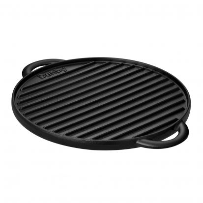 Denby Cast Iron 28cm Reversible Pizza Baker / Griddle