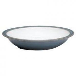 Denby Jet Grey Rimmed Bowl
