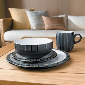 Denby Jet Stripes 16pce Box Set