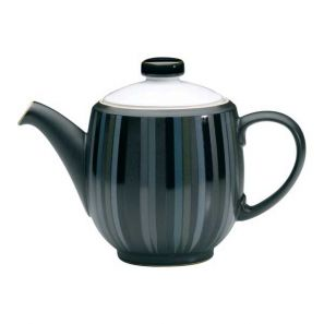 Denby Jet Stripes Large Curve Tea Pot