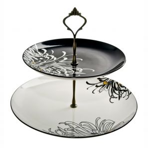 Denby Monsoon Chrysanthemum Cake Stand