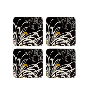 Denby Monsoon Chrysanthemum Charcoal Coasters