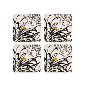 Denby Monsoon Chrysanthemum Cream Coasters