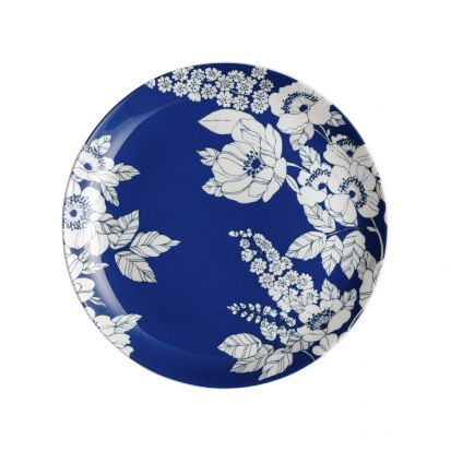 Denby Monsoon Fleur Medium Blue Plate