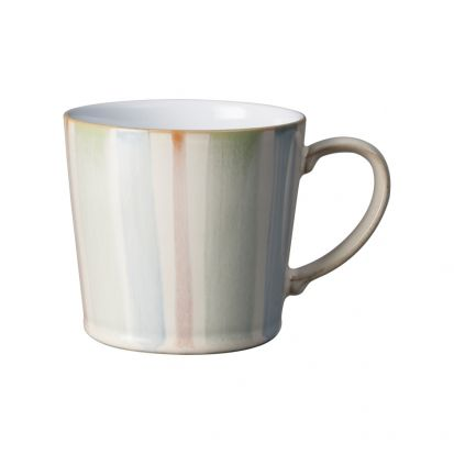 Denby Multi Stripe Painted Large Handcrafted Mug