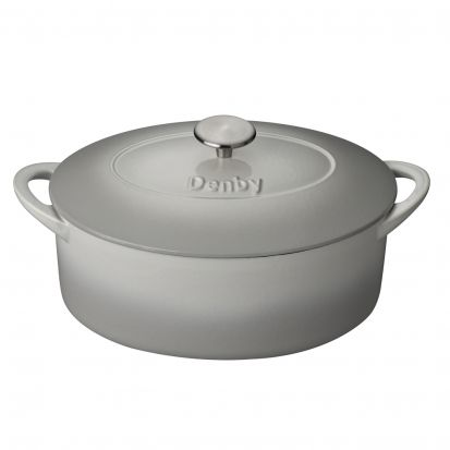 Denby Natural Canvas Cast Iron 28cm Oval Casserole