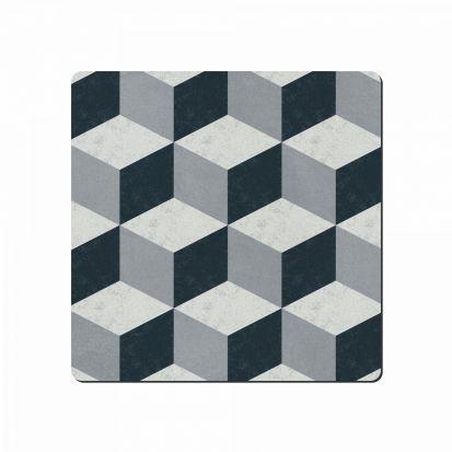 Denby Studio Grey Geometric Square Placemats Set of 6