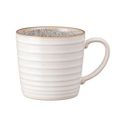 Denby Studio Grey Ridged Mug Quartz White