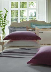 Dorma 300 Thread Count Cotton Sateen Standard Pillowcase Platinum