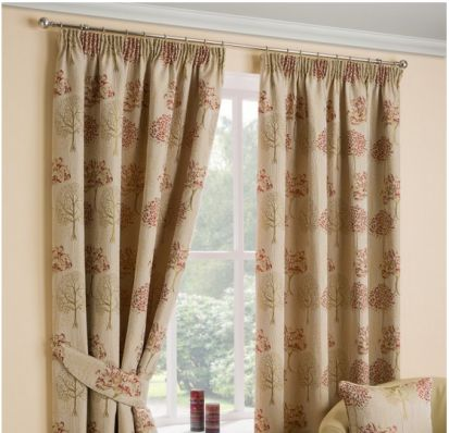 Dreams & Drapes Arden Chintz Readymade Curtains 66