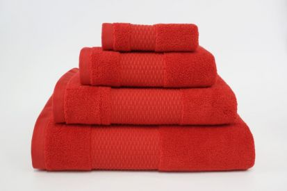 Elainer Duchess Bath Sheet - Red
